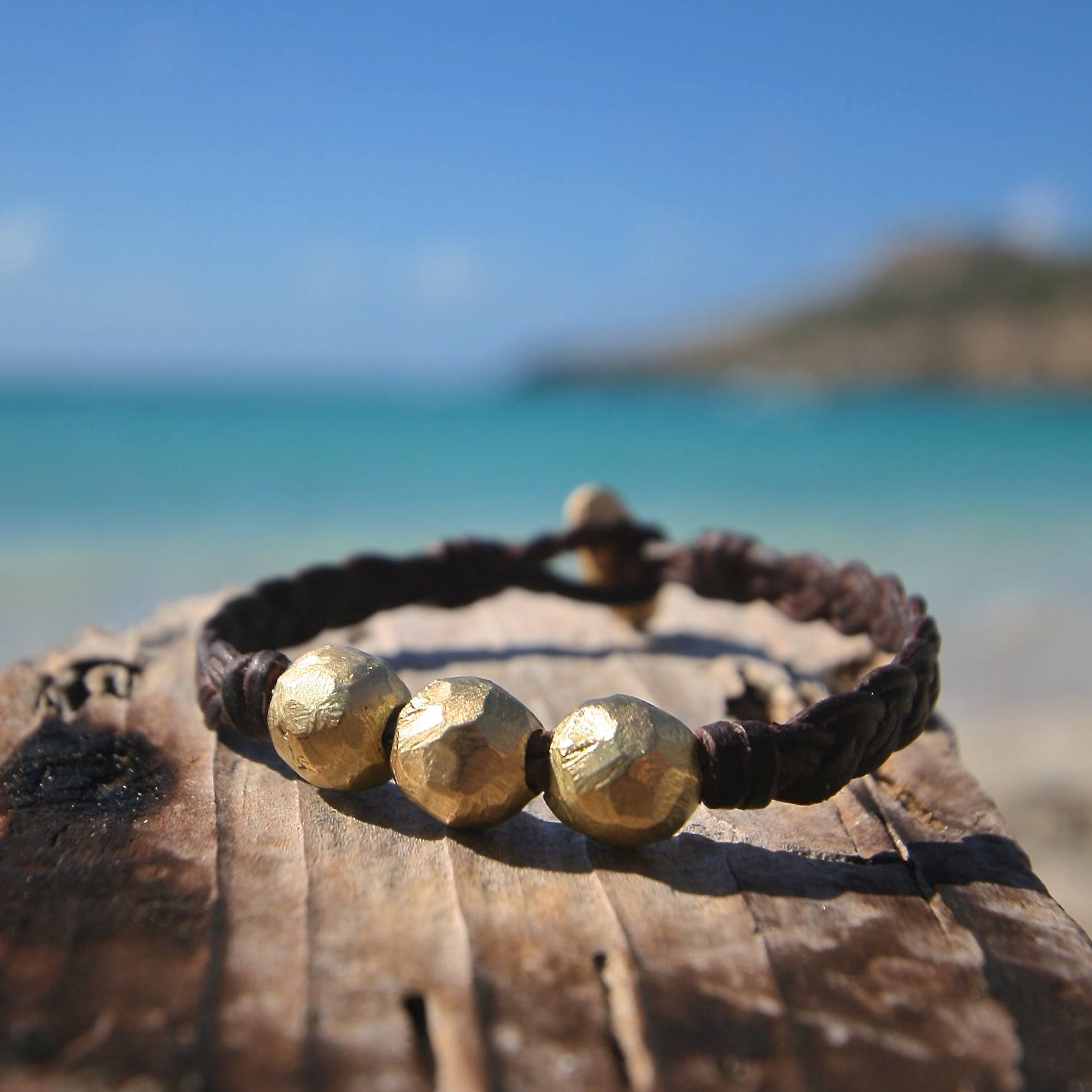 gold and leather jewelry st barth