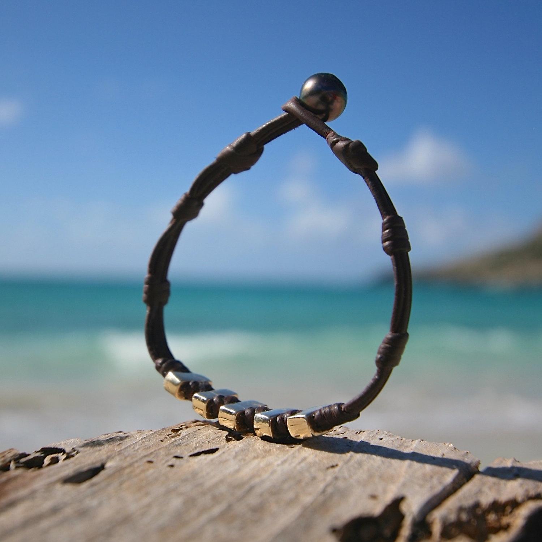 St Barths jewelry leather bracelet