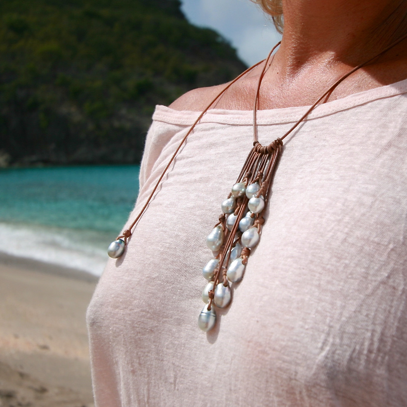pearls jewelry from st barth island