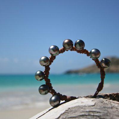 tahitian pearls bracelet St Barths jewelry