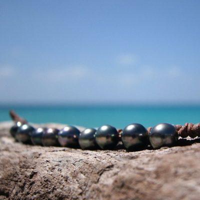 St Barths jewelry black pearls bracelet