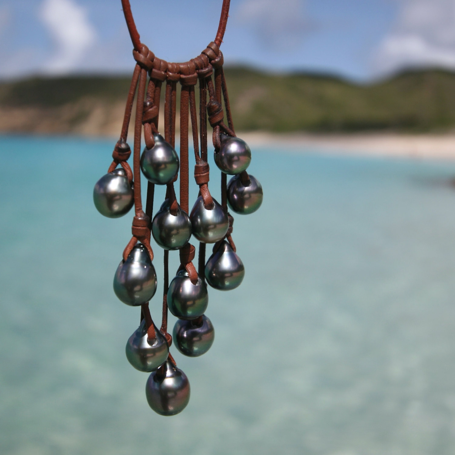 tahitian pearls grappe st barth jewelry