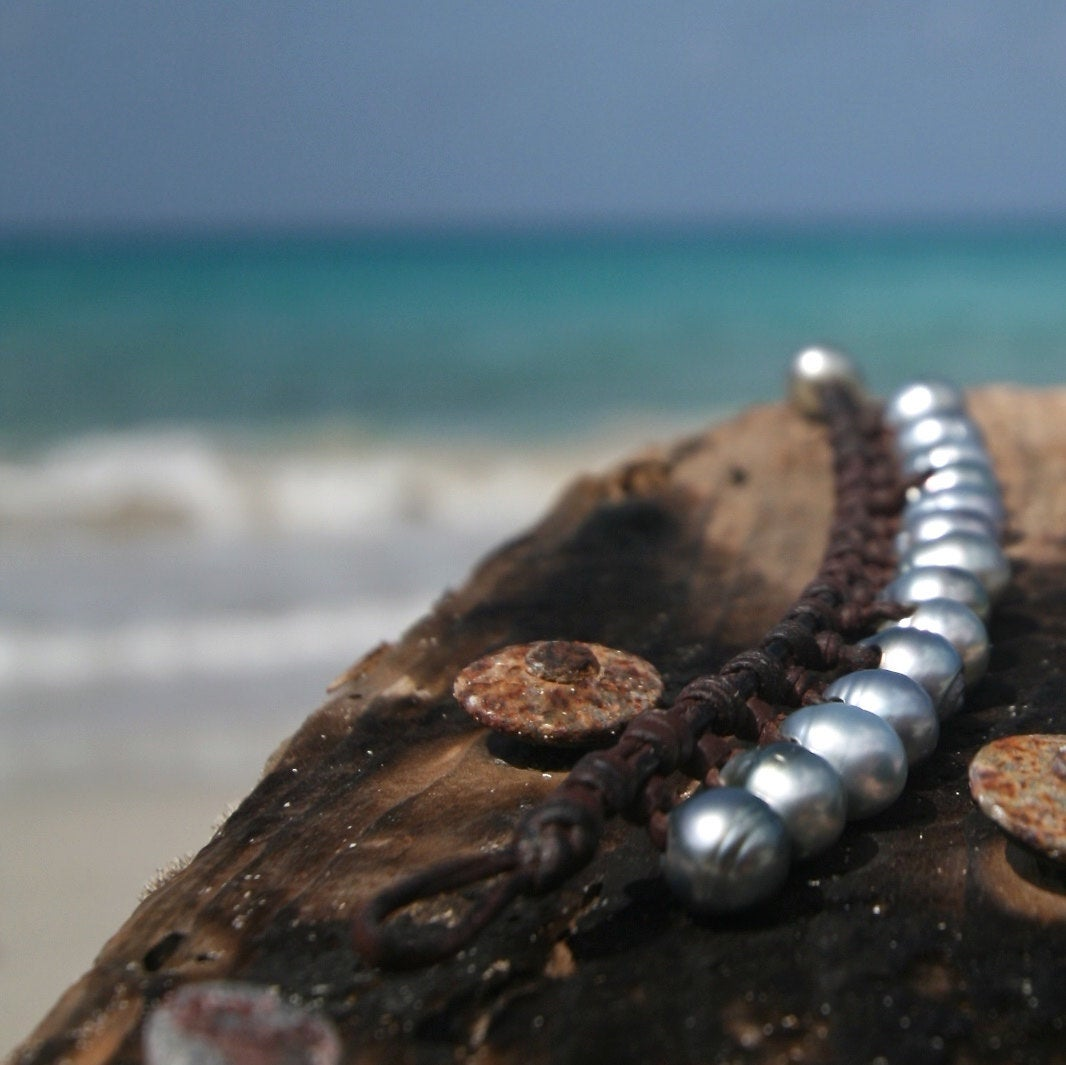 Tresors de St Barth pearl bracelet