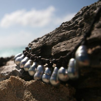 pearls on leather St Barths jewelry