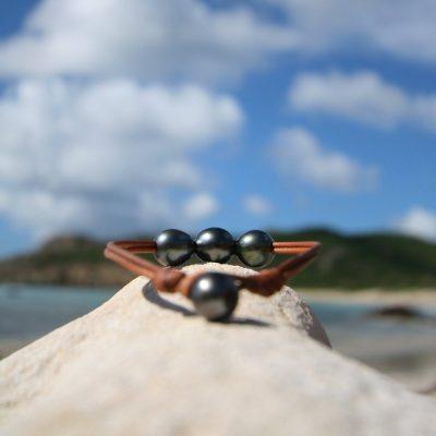 tahitian pearls bracelet St Barth jewelry