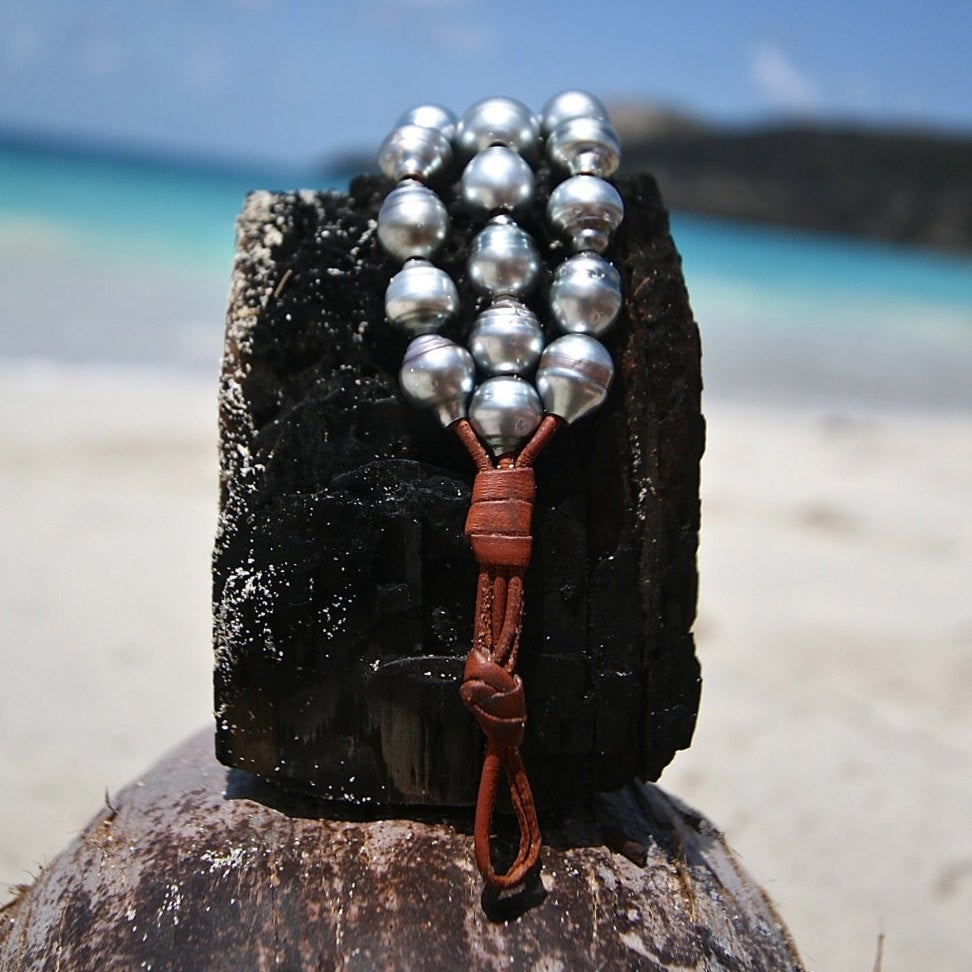 handcrafted leather and pearl jewelry st barth