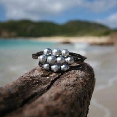 pearls wrap bracelet St Barts jewelry
