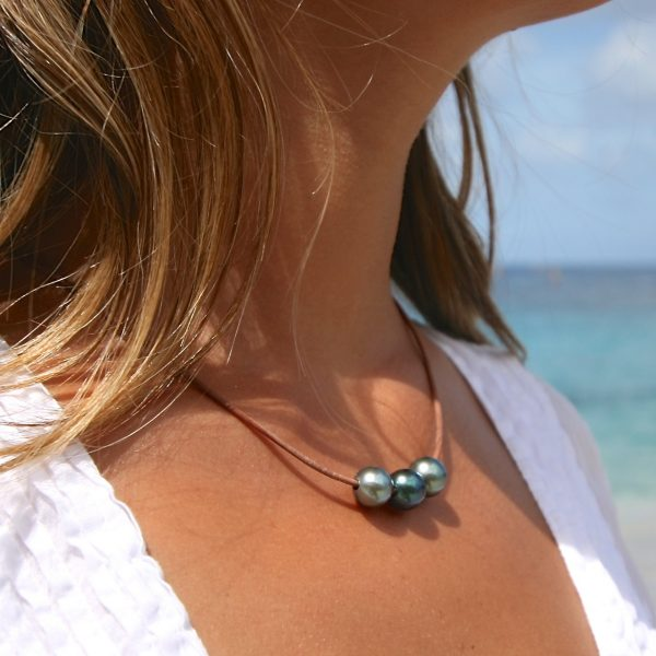 st barth jewelry leather pearls lariat