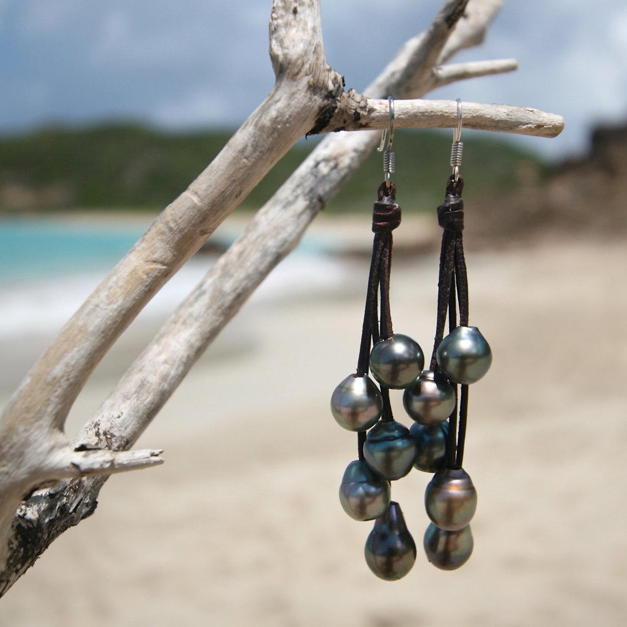 pearls earrings pendants St Barths jewelry