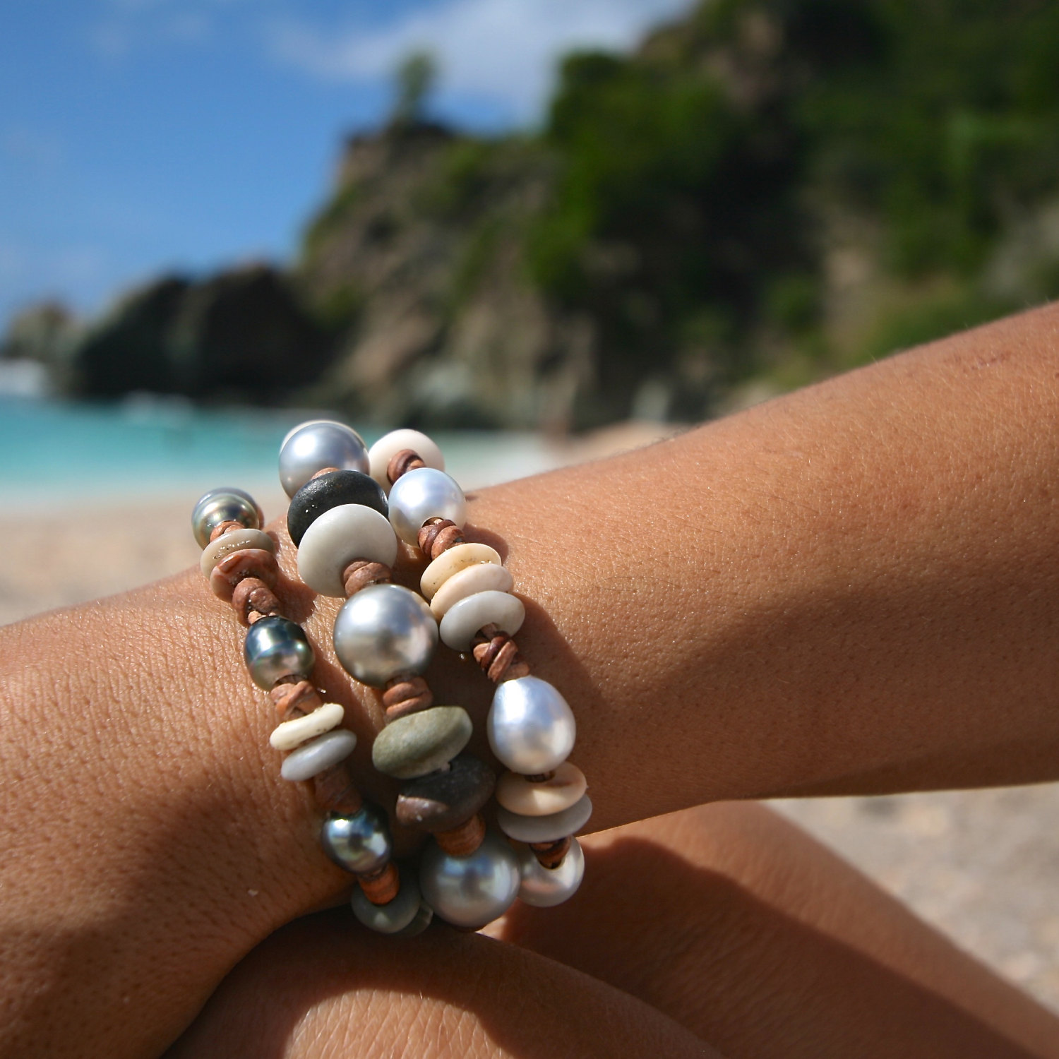 signature leather jewelry St Barth