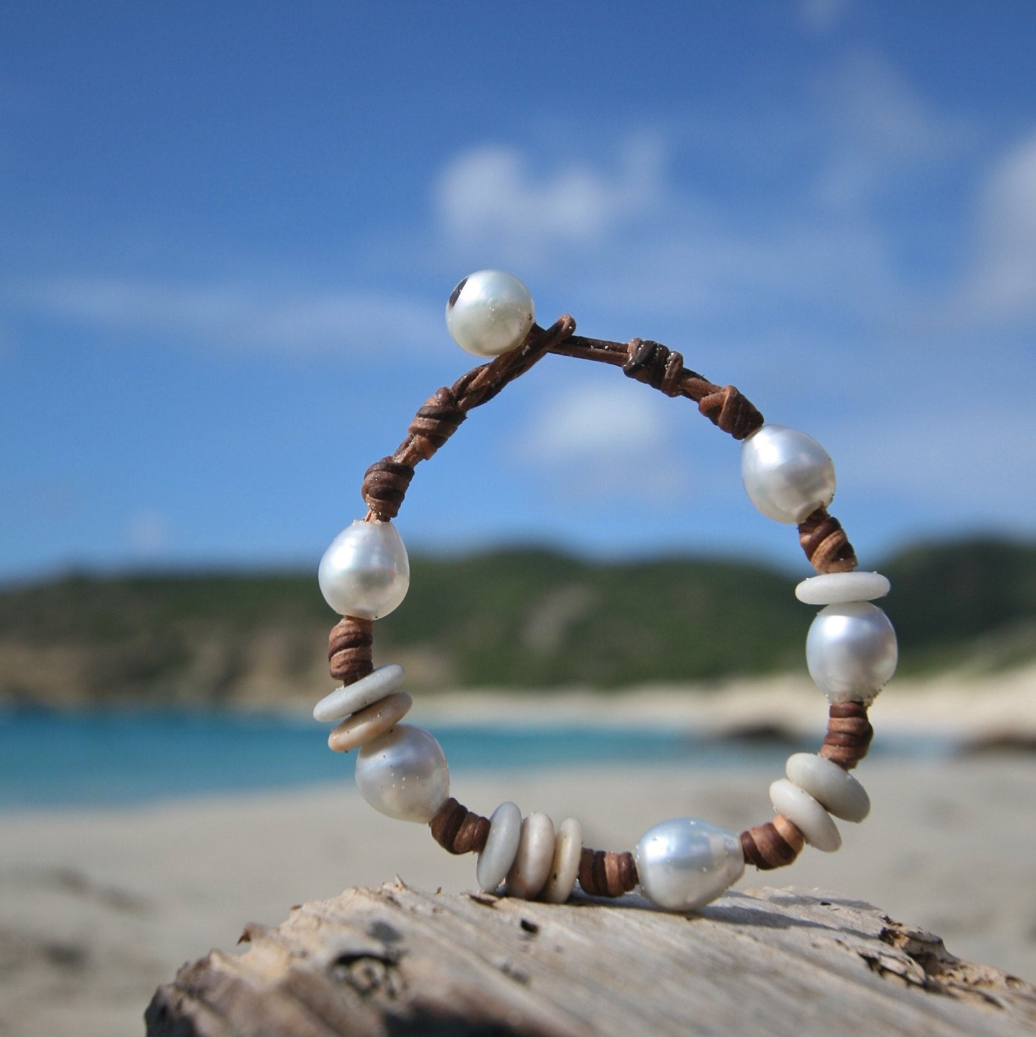 leather bracelet jewelry St Barth