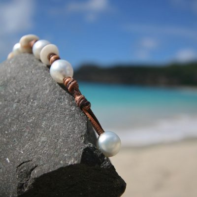 pearls and pebbles bracelet jewelry St Barth