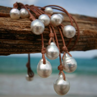 pearl and leather jewelry st barths island