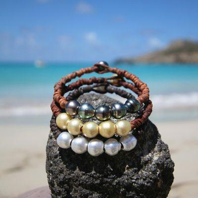 multicolor pearls bracelet St Barths jewelry