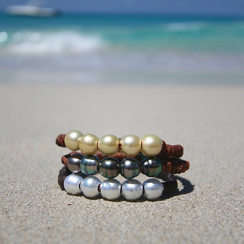 Tresors de st barth leather bracelets