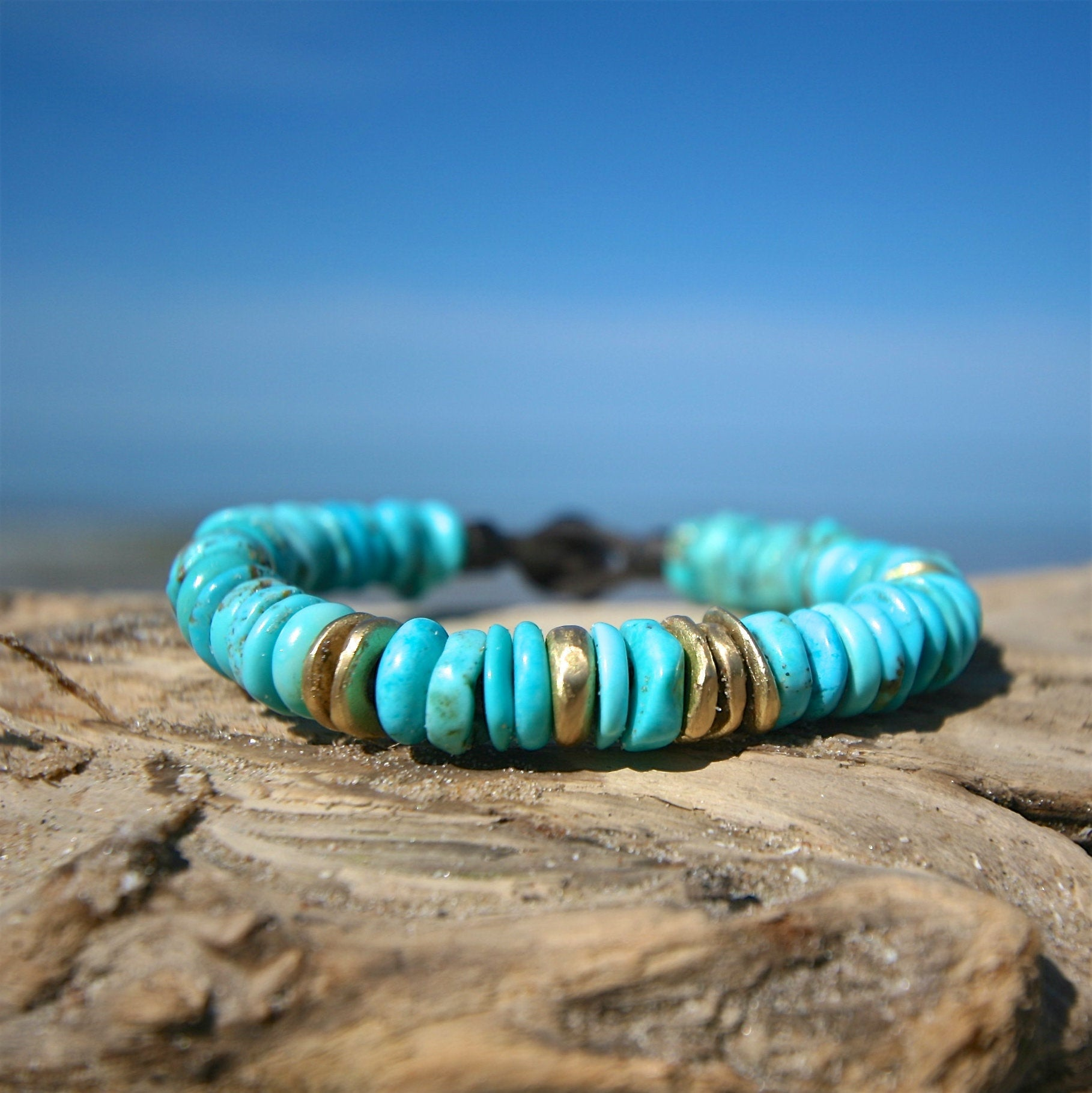 turquoise and gold bracelet st barth jewelry