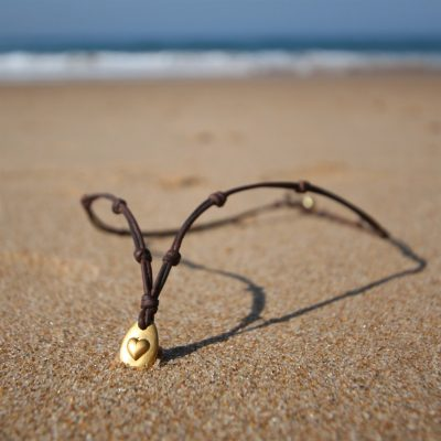 leather gold necklace st barth jewelry