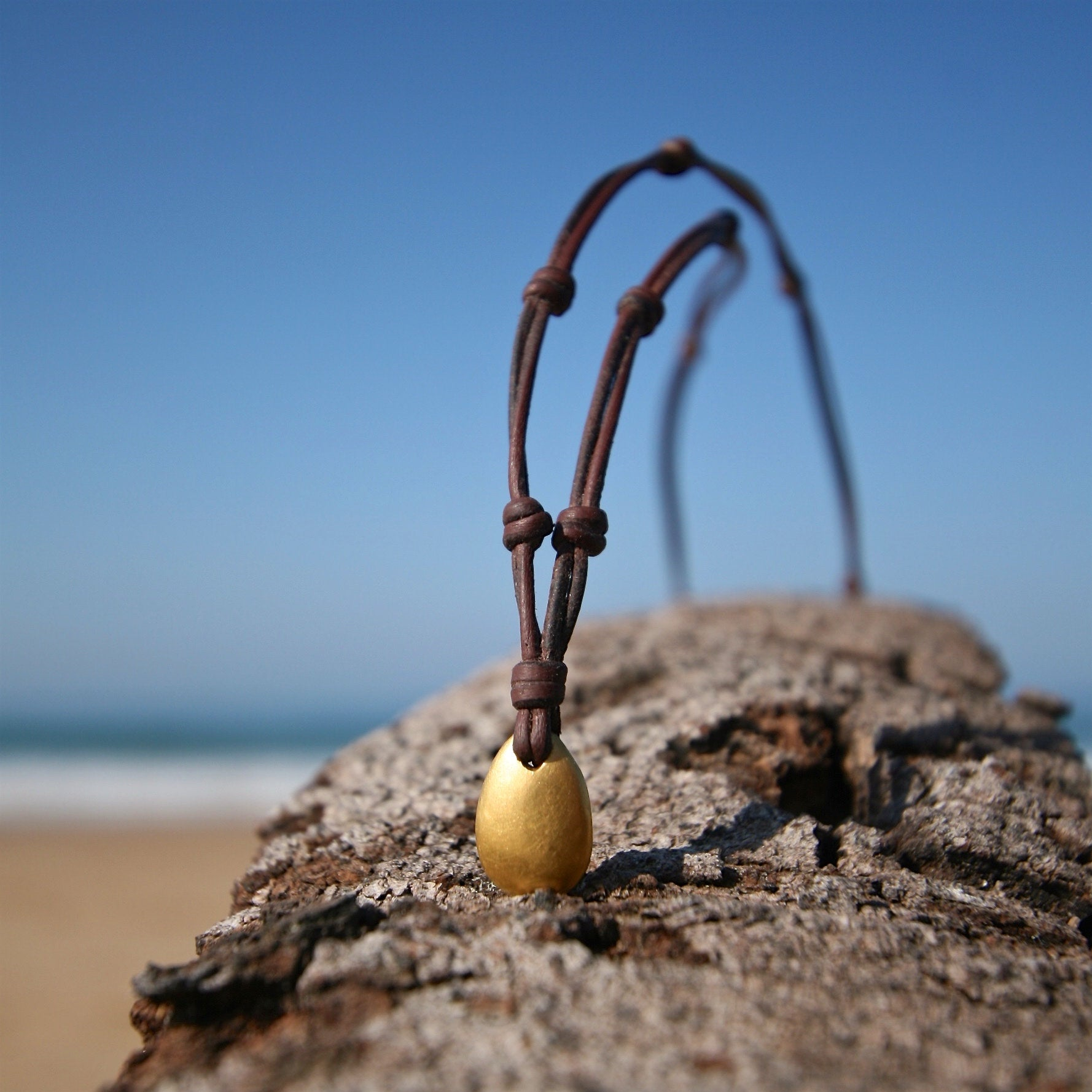 pebble gold necklace st barth jewelry