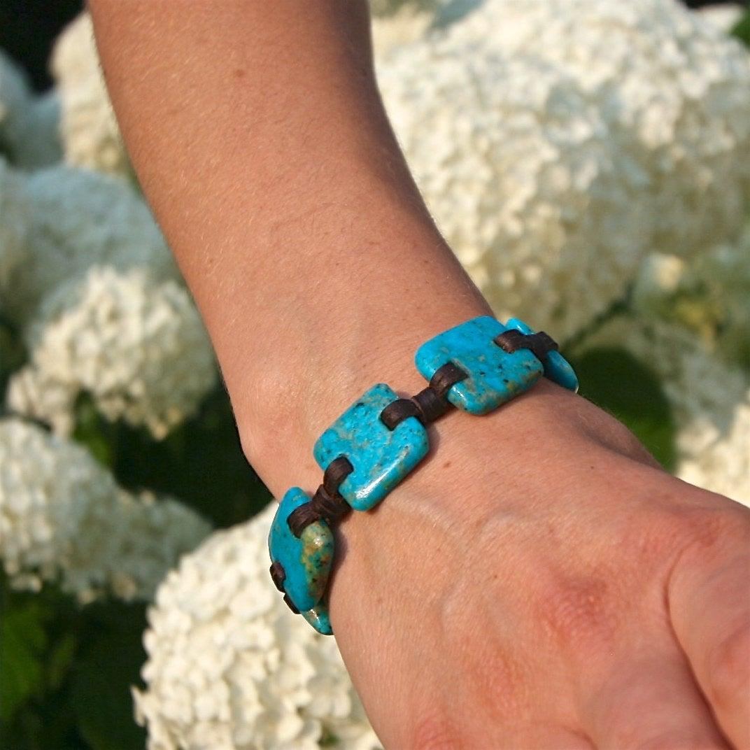 Leather bracelet tresors de st barth jewelry