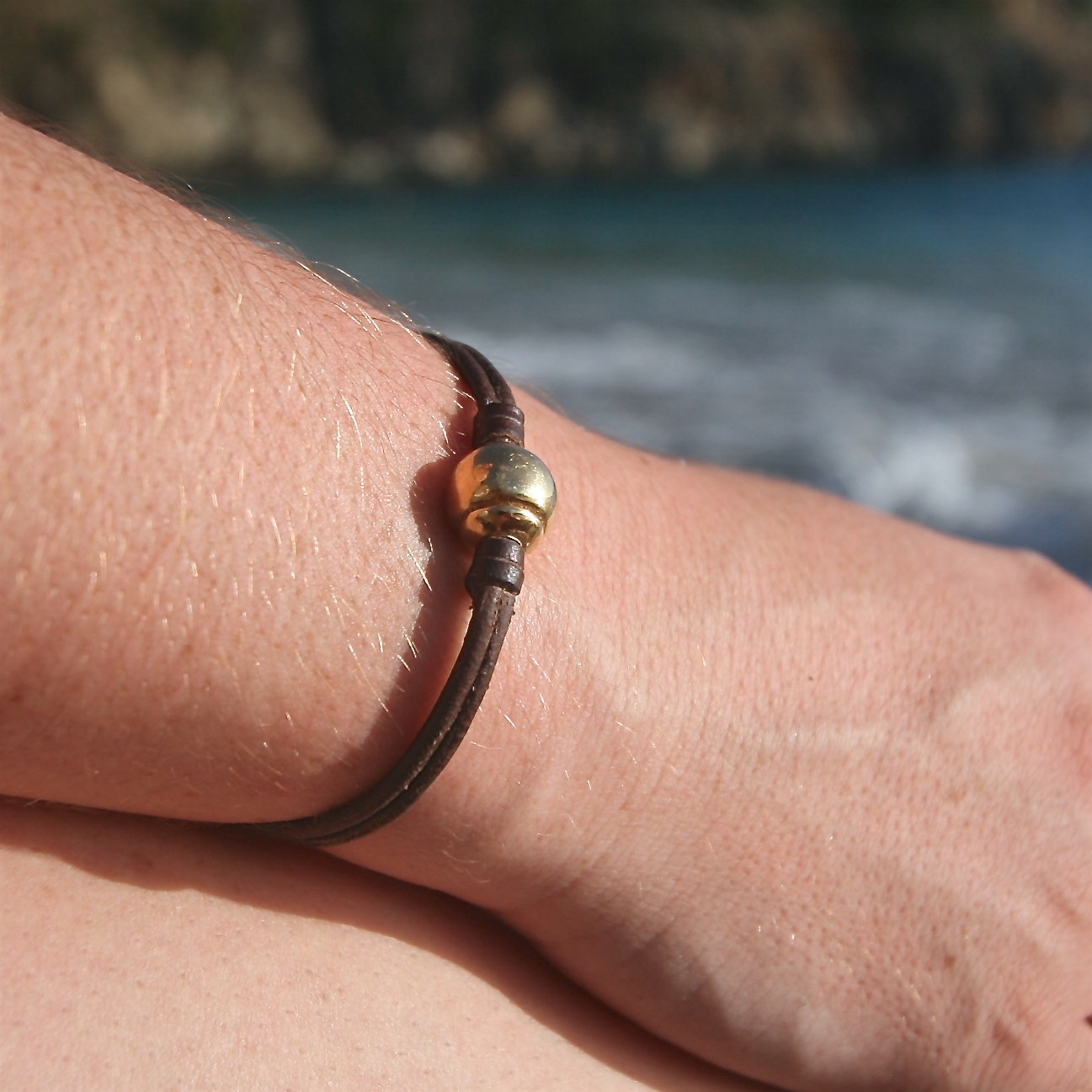 leather bracelet mens St Barth jewelry