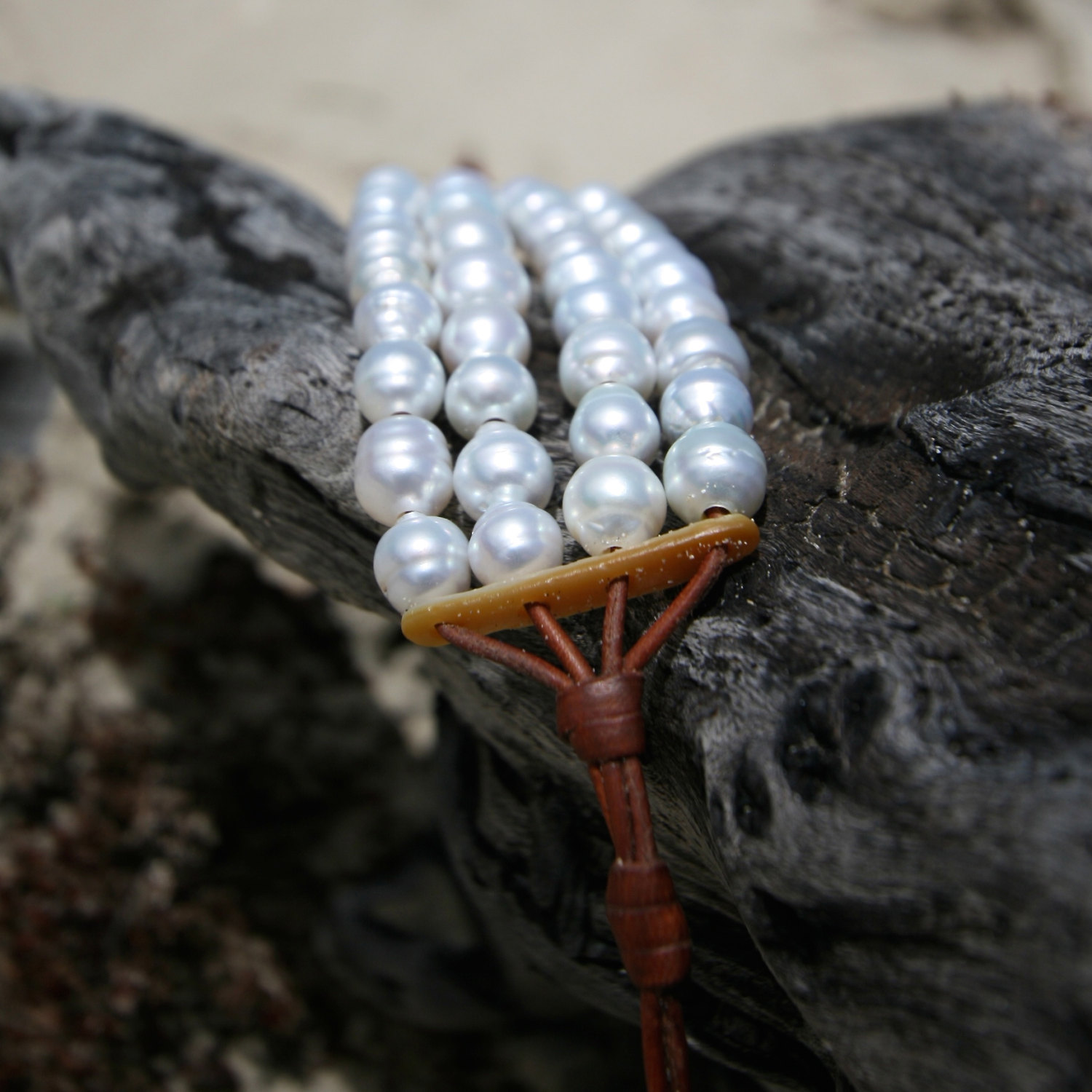 St Barth jewelry white pearls bracelet