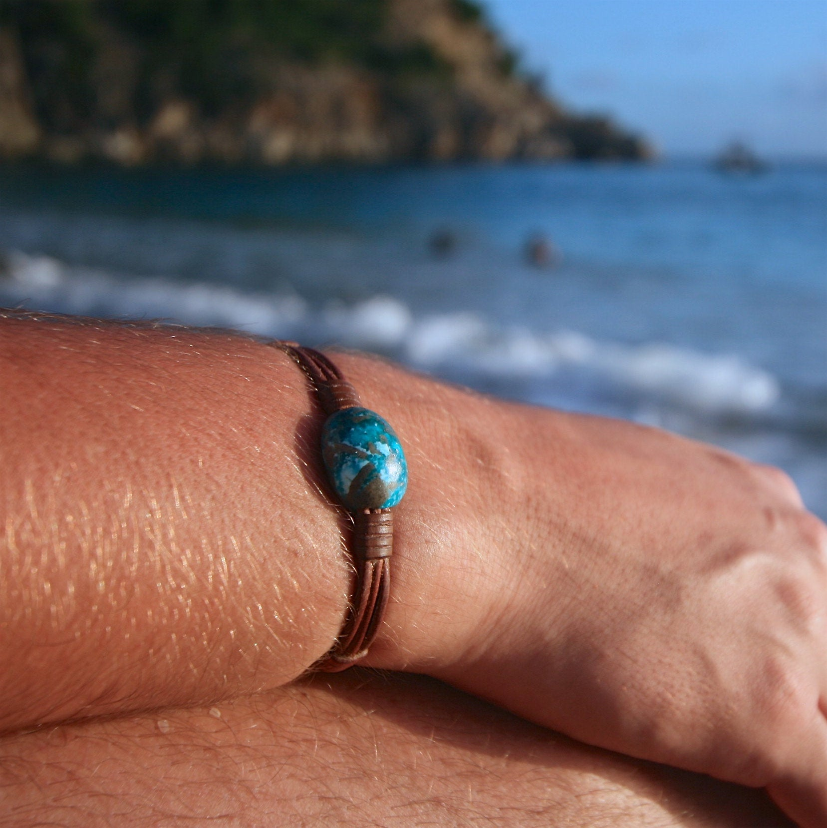 St Barth jewelry leather bracelet