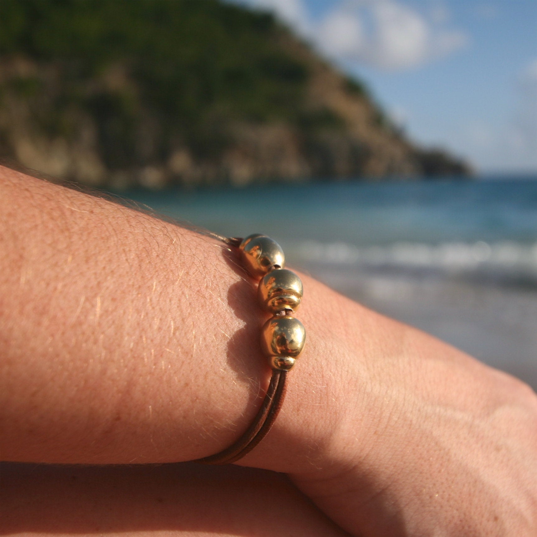 Jewelry st barth gold pearls bracelet