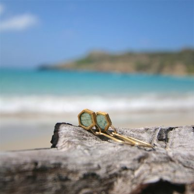 Earrings jewelry st barth gold
