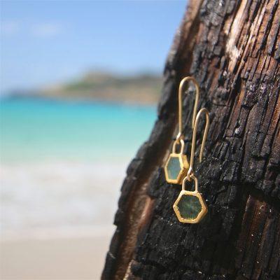earrings gold jewelry St Barth