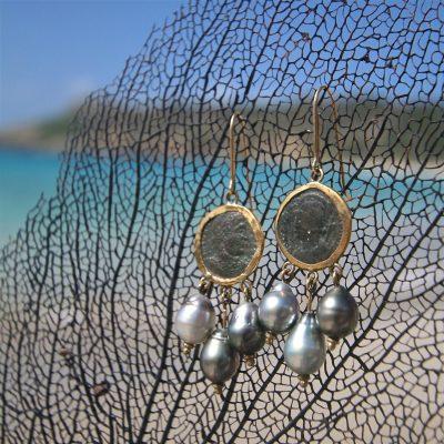 St Barth jewelry gold earrings