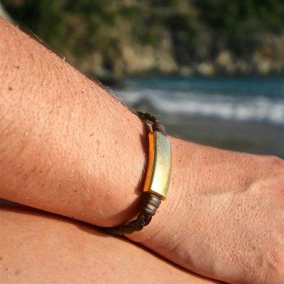 St Barth jewelry braided leather bracelet