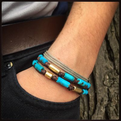 St Barths jewelry leather bracelet