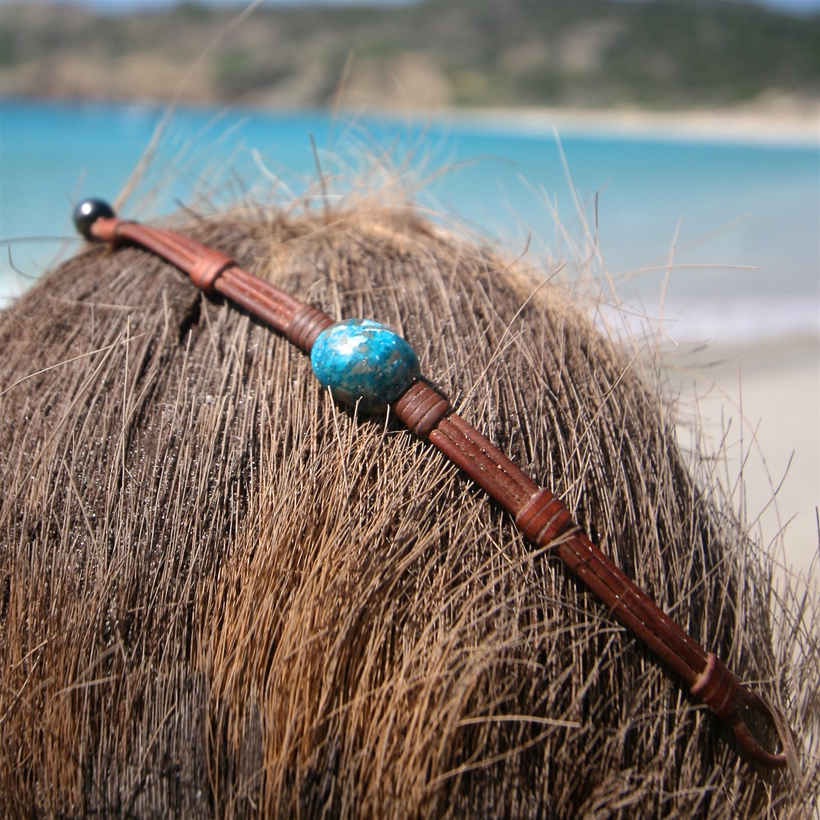St Barth leather beach jewelry